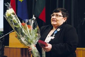 Krystyna Dzierżyńska została uhonorowana wysokim  odznaczeniem RP